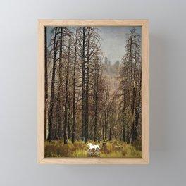 Burnt Trees Framed Mini Art Print