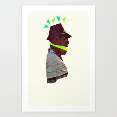 Lime Man Art Print