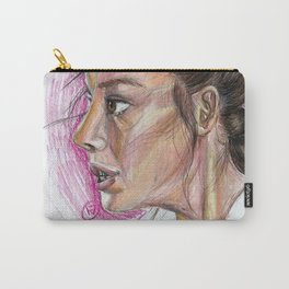 Sketch of Rey (Force Awakens) Carry-All Pouch
