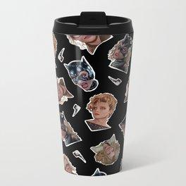 Selina Kyle Catwoman Pattern Metal Travel Mug