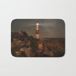 Evening Coast With Lighthouse Bath Mat