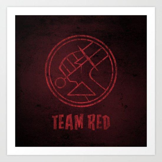 Team Red Art Print