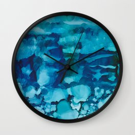 Caught in the wave Wall Clock