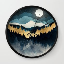 Indigo Night Wall Clock