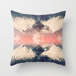 Volcano Geometric Throw Pillow