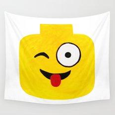 Winking Smile - Emoji Minifigure Painting Wall Tapestry