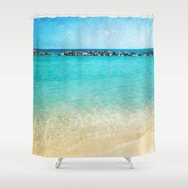 Blue Curacao Shower Curtain
