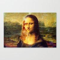 da vinci Canvas Prints featuring The Da Vinci Code by  Agostino Lo Coco