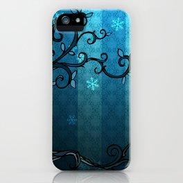LEAVE - Winter Cyan iPhone Case