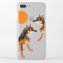 Iberian wolves and the sun (c) 2017 Clear iPhone Case