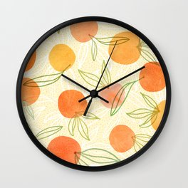 Summer Citrus Mix Wall Clock