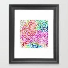 rain 5 sq Framed Art Print