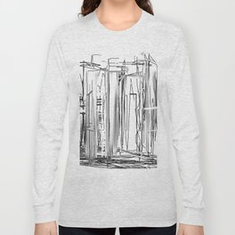 Abstract City Long Sleeve T-shirt