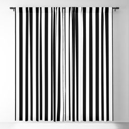 Abstract Black and White Vertical Stripe Lines 12 Blackout Curtain