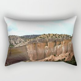 Rock Amphitheater, on the Road from Chama to Santa Fe Rectangular Pillow