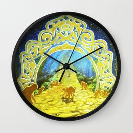 The Golden Path Wall Clock