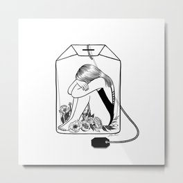 Lady Grey Tea Metal Print