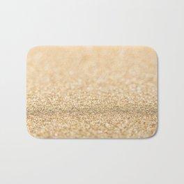 Beautiful champagne gold glitter sparkles Bath Mat
