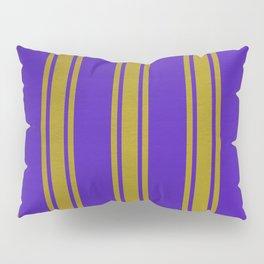 Yellow lines on a blue background Pillow Sham