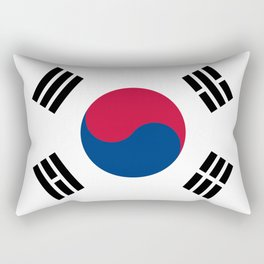 National flag of South Korea, officially the Republic of Korea, Authentic version - color and scale Rectangular Pillow