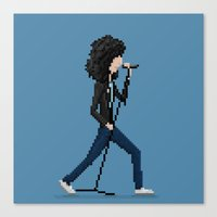 ramones Canvas Prints featuring Joey Ramone by Pixel Faces