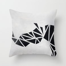 Geo Rhino (oil painting) Throw Pillow