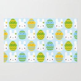 Kawaii Easter Bunny & Eggs Rug
