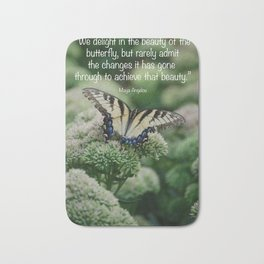 We delight in the beauty of the butterfly.... Bath Mat