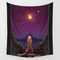 tangled Wall Tapestries featuring Tangled by Westling