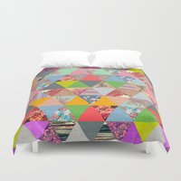 spring Duvet Covers featuring Lost in ▲ by Bianca Green