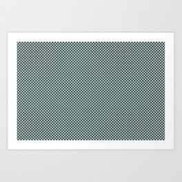 Cave Pearl Light Mint Green PPG1145-3 Polka Dots on Night Watch PPG1145-7 Art Print
