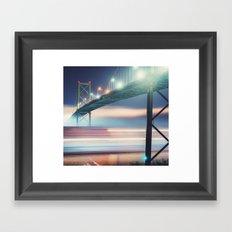 Underneath The Bridge Framed Art Print