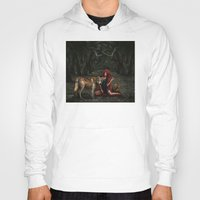 red riding hood Hoodies featuring Red Riding Hood by Viggart
