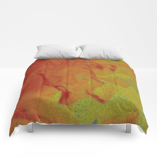 Flower | Flowers | Fading Flower | Red Abstract Comforters