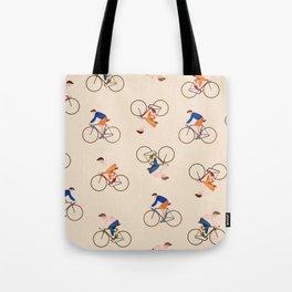 Bike Pattern Tote Bag