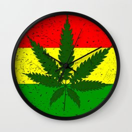 Rastafarian Flag Wall Clock
