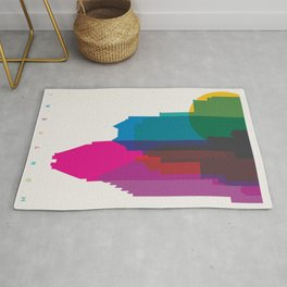Shapes of Montreal. Accurate to scale. Rug