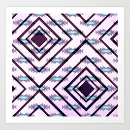 Ultraviolet ethnic pattern Art Print