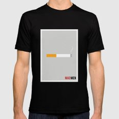 Mad Men - Minimalist Black MEDIUM Mens Fitted Tee