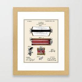 Snare Drum Patent - Colour Framed Art Print