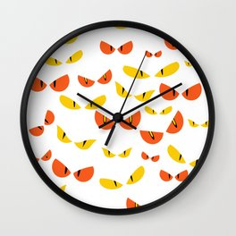 funny eyes monstre for halloween 2018 Wall Clock