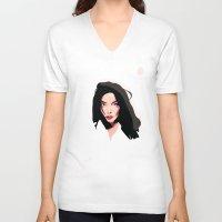 bjork V-neck T-shirts featuring Bjork by Anna McKay