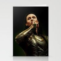 loki Stationery Cards featuring Loki by Arkarti
