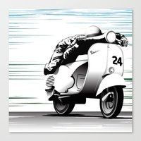 racing Canvas Prints featuring Racing by Don Paris Schlotman