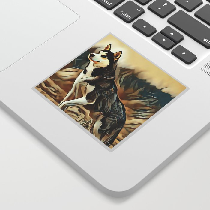 The Siberian Husky Sticker By Sunleil