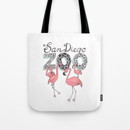 Zoo Flamingos Tote Bag