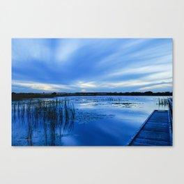 10002 Blue Sunset 2 Canvas Print