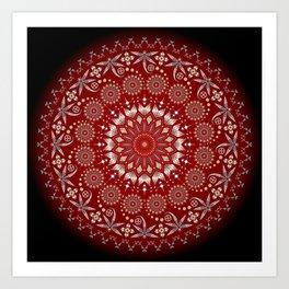 Ancestors (Red) Art Print