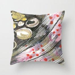 orange texture  Throw Pillow
