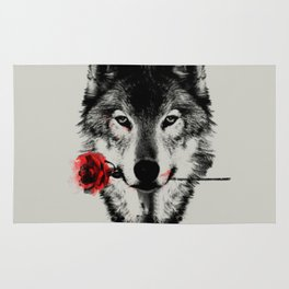 The Wolf and The Rose Rug